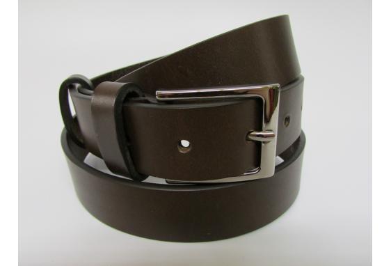 Cintura sportiva in cuoio di toro testa di moro