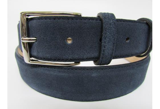 Cintura camoscio blu
